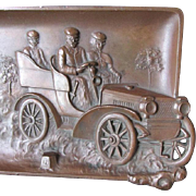 c1910s Desk or Vanity Tray with Early Automobile
