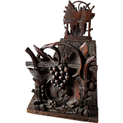 Antique Hand Carved German Black Forest Bookends
