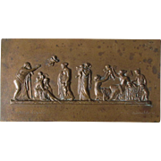 19thC Bronze Plaque, The Flight of Cupid