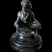 Antique Miniature Arabian Man Silverplate Paperweight
