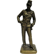 Miniature Vienna Bronze of a Military Soldier in Uniform