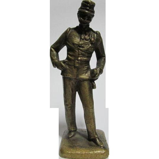 Miniature Vienna Bronze of a Military Soldier in Uniform
