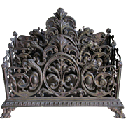 19thC  Victorian Gothic Letter Holder w/ Gargoyles