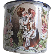 Antique Agateware Merry Christmas Cup