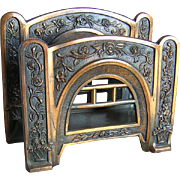 Art Deco, Nouveau Desk Top Rose Trellis Letter Holder