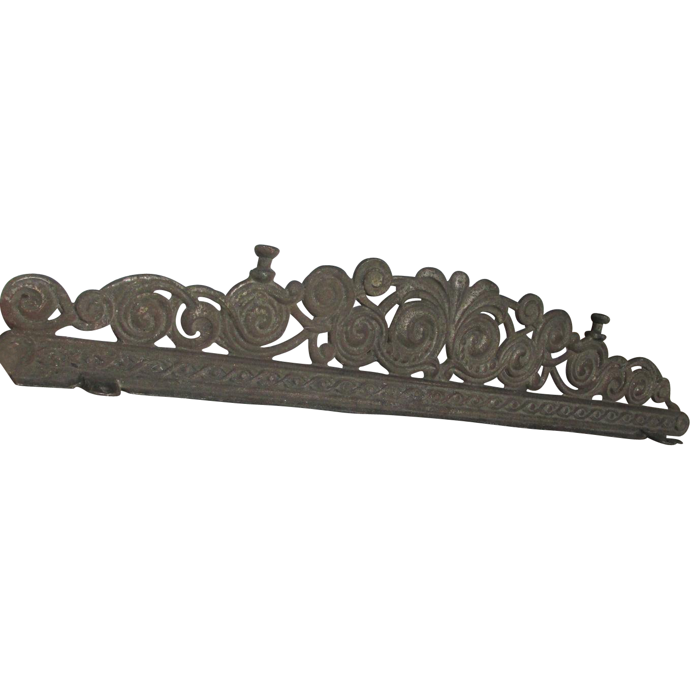 Antique Cast Iron Architectural Element, Stove Finial