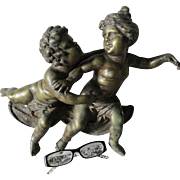 Antique Architectural Sculpture Fragment of Cherubs
