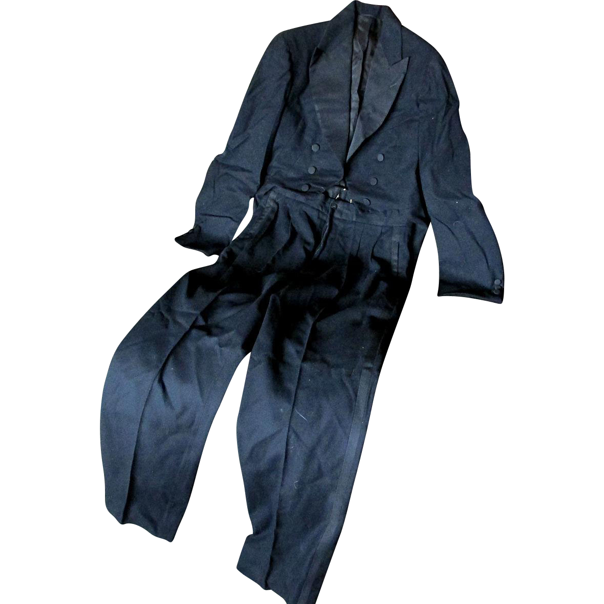 c1930s Gentlemans Tuxedo with Tails, Suit with Pants