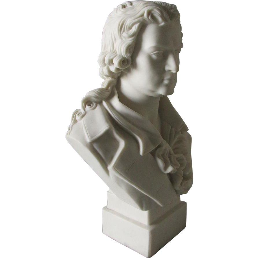 19thC Parian Porcelain Bust of Schiller, Robinson & Leadbeater