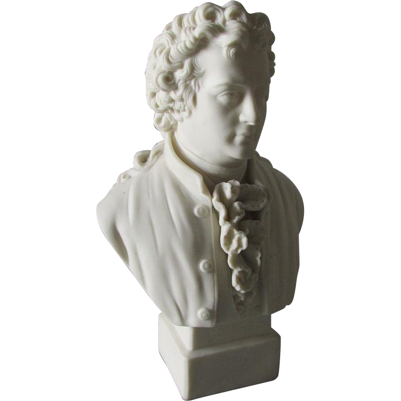 19thC Parian Porcelain Bust of Gothe, Robinson & Leadbeater