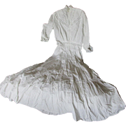 c1890s Victorian White Lace Dress, Wedding Gown