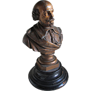 Antique William Shakespeare Bust, Sculpture