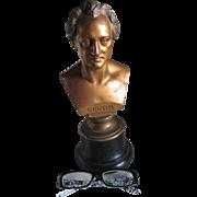 Antique Johann Wolfgang von Goethe Bust, Sculpture