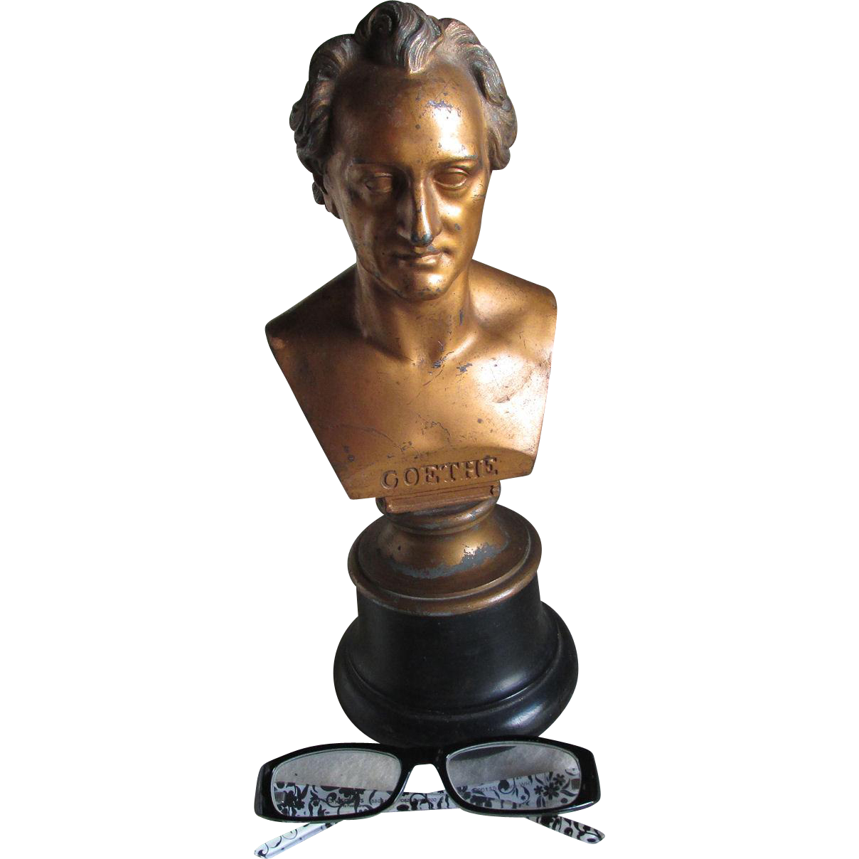 Antique Johann Wolfgang von Goethe Bust, Sculpture