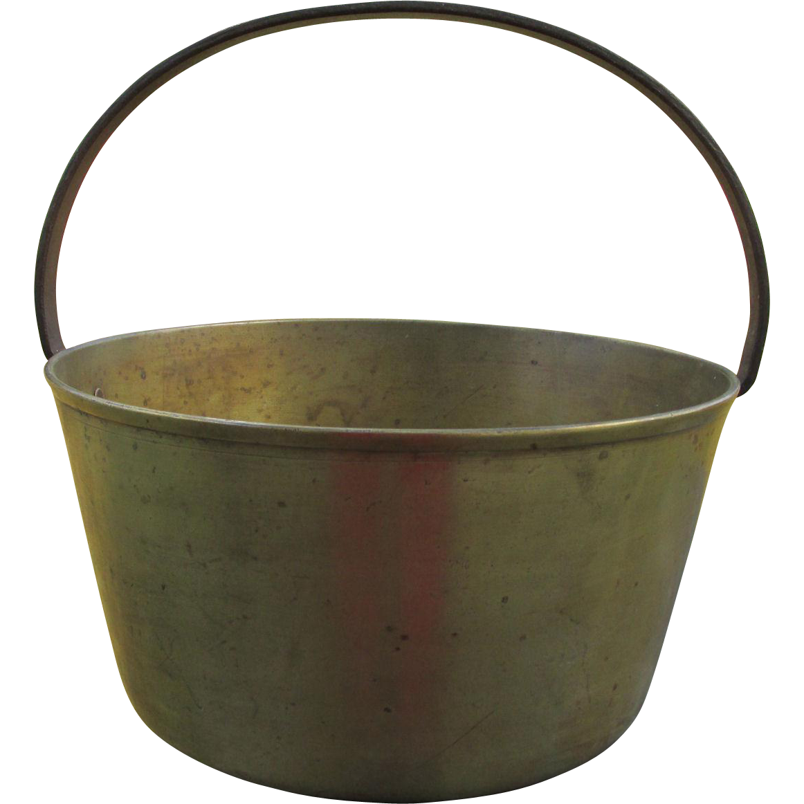 19thC Primitive Bronze & Wrought Iron Campfire Pot
