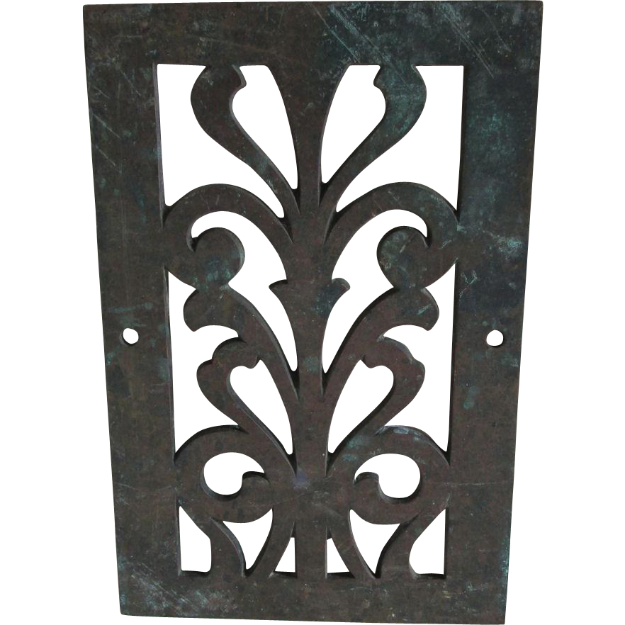 Antique Bronze Grate, Garden, Architectural Element