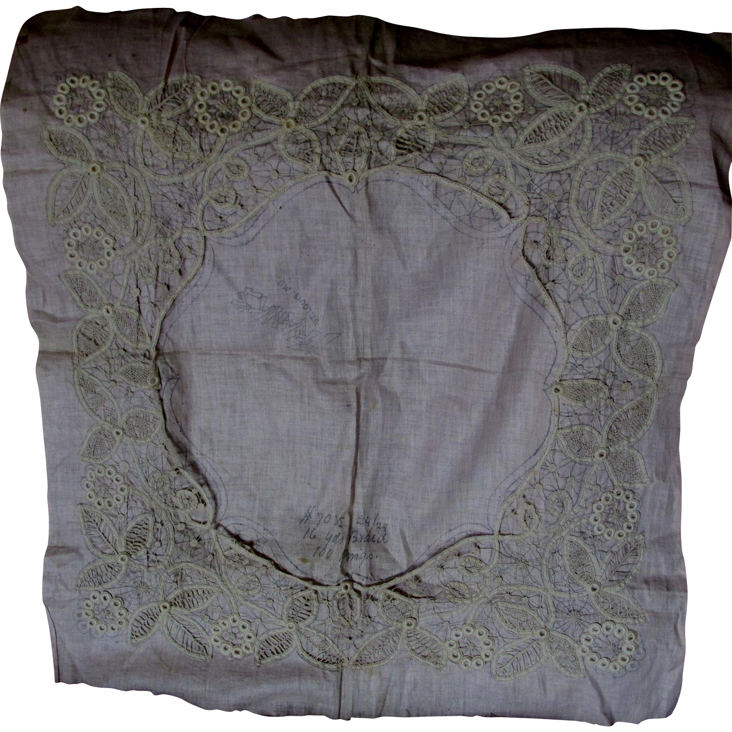 Victorian, Edwardian Hand Made Needle Lace Pattern, Sample