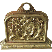 Antique Art Nouveau, Victorian Gilt Brass Letter Holder