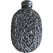 19thC Victorian Filigree Flask, Whiskey Bottle, Distillery