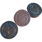 3 Antique Wax Letter Seals, NY Police Department