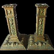 PR Antique Candlesticks with Gargoyles, Northwind Faces
