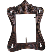 Antique Art Nouveau Picture Frame, Ladies Face