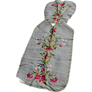 French Silk Vestment with Roses & Lily Flowers