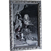 19thC French Silk Tapestry, Joan of Arc