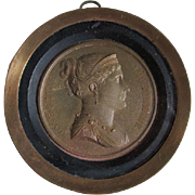 French Grand Tour Medallion of Josephine, Napoleon Bonaparte