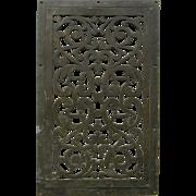 Antique Bronze Architectural Element, Grate, Vent