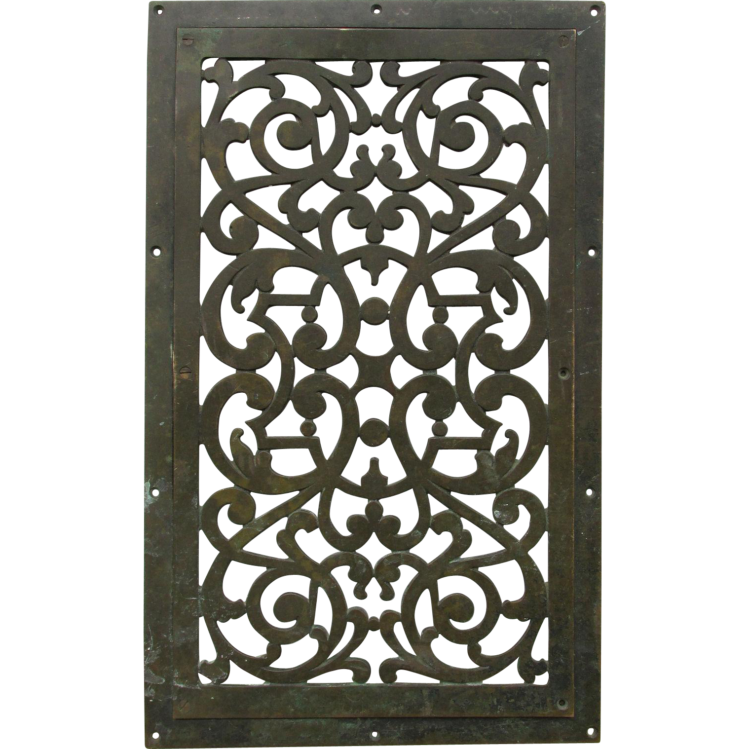 Antique Bronze Architectural Element, Grate, Vent