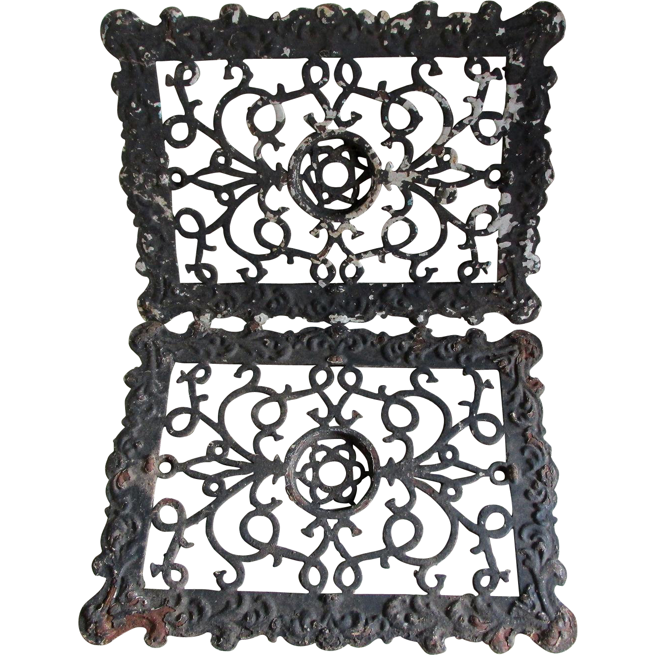 Pair Antique Architectural Elements, Grates, Vent Covers
