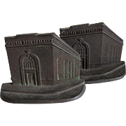 Central Bank of Albany Advertising, Building Bookends