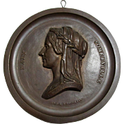 Bronze Plaque Mary Somerville, Astronomy, Polymath