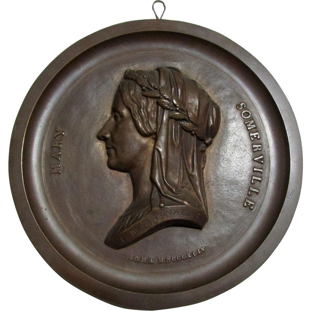 RESERVED...Bronze Plaque Mary Somerville, Astronomy, Polymath
