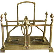 Elegant Antique Art Nouveau Brass Letter Holder