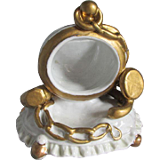 Whimsical 19thC Pocket Watch Holder with Jewelry