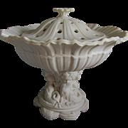 19thC Parian Porcelain Potpourri with Mermaid Children