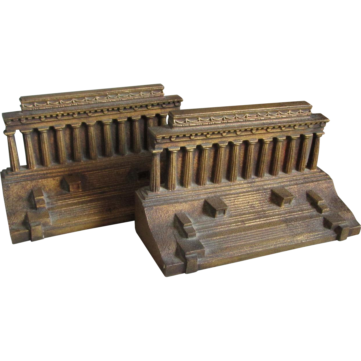 c1920s Bradley & Hubbard Lincoln Memorial Bookends