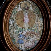 Lovely Victorian Collage with Cherub Angels, Ballerina, etc.