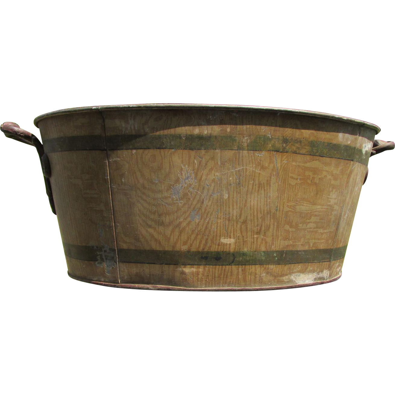 Cast Iron Wash Tub : 19thC Victorian Tole Painted Wash Tub, Basin from neatcurios on Ruby ...