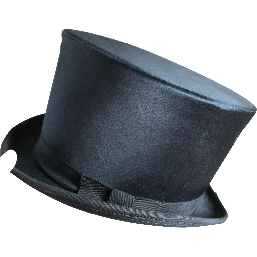 Antique Victorian, Edwardian Silk Tophat, Men's or Boys