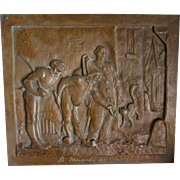 C1900  Bronze Plaque, French Jesters by Bonnard Bronze Co
