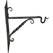 Arts & Crafts Wrought Iron Hook, Architectural