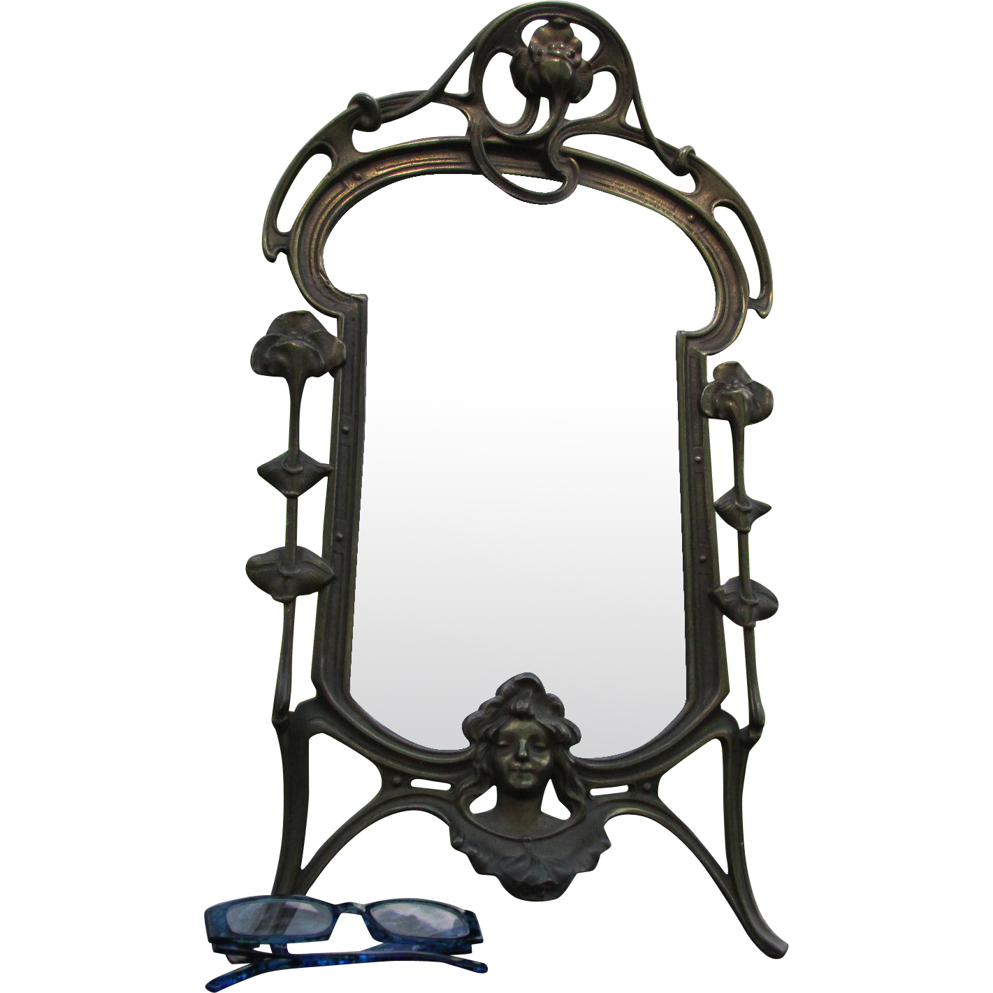 Antique Art Nouveau, Vanity Mirror, Picture Frame
