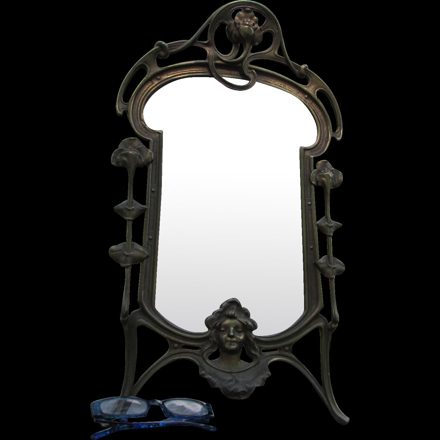 Antique Art Nouveau, Vanity Mirror, Picture Frame