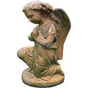 19hC Antique Victorian Angel Doorstop