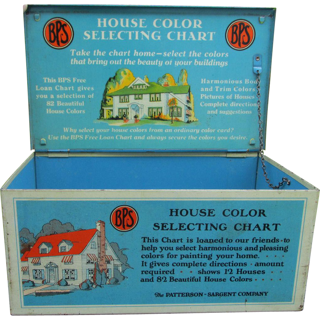 c1920s Advertising Tin House Color Paint Samples