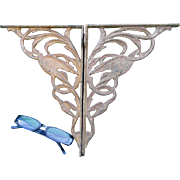 19thC Victorian Cast Iron Architectural Brackets w/Birds