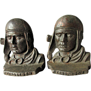 c1920s Charles Lindbergh Aeronautical Bookends